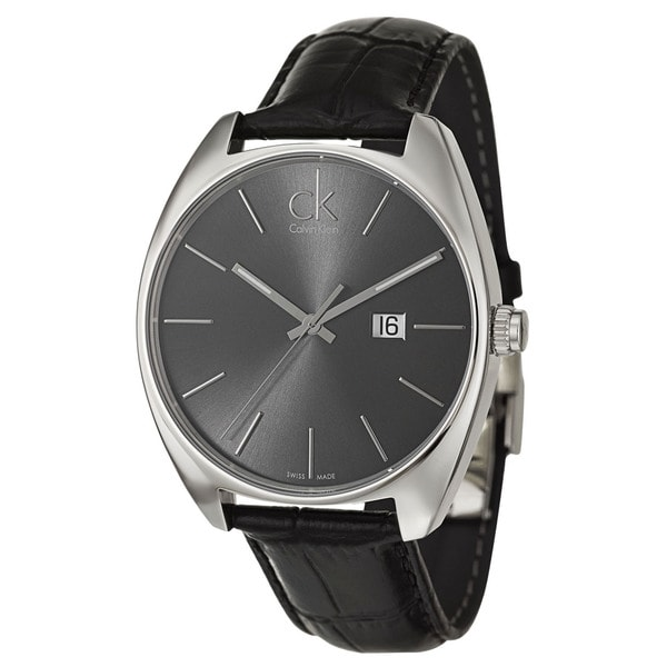 Calvin Klein Men's 'Exchange' Stainless Steel Dark Grey Dial Watch