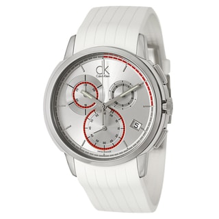 Calvin Klein Men's 'Drive' Stainless Steel Silver Dial Swiss Quartz Watch