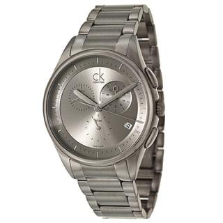 Calvin Klein Men's 'Basic' Stainless Steel Gray PVD Coated Swiss Quartz Watch