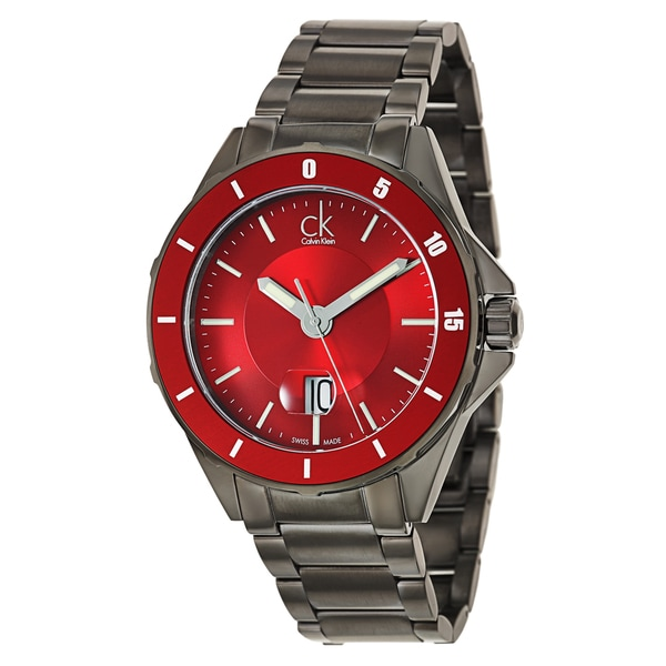 Calvin Klein Men's 'Play' Stainless Steel Gray PVD Coated Swiss Quartz Watch
