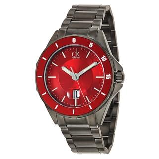 Calvin Klein Men's 'Play' Stainless Steel Gray PVD Coated Swiss Quartz Watch