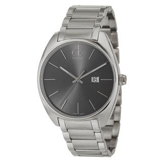 Calvin Klein Men's 'Exchange' Stainless Steel Dark Grey Dial Swiss Quartz Watch