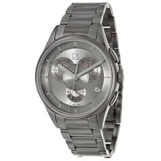Calvin Klein Men's 'Basic' Stainless Steel Grey Swiss Quartz Watch
