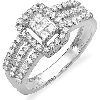 14k White Gold 3/4ct TDW Diamond Engagement Ring (H-I, SI1-SI2)