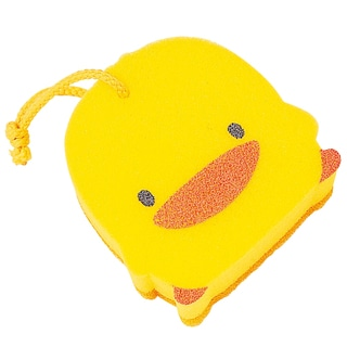 Kid's Yellow Duckling Exfoliating Sponge