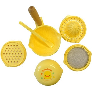 Kid's Yellow Duckling 7-piece Food Processor Set