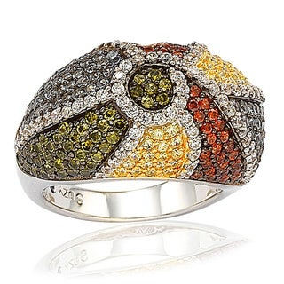 Suzy Levian Sterling Silver Exotic Cubic Zirconia Ring