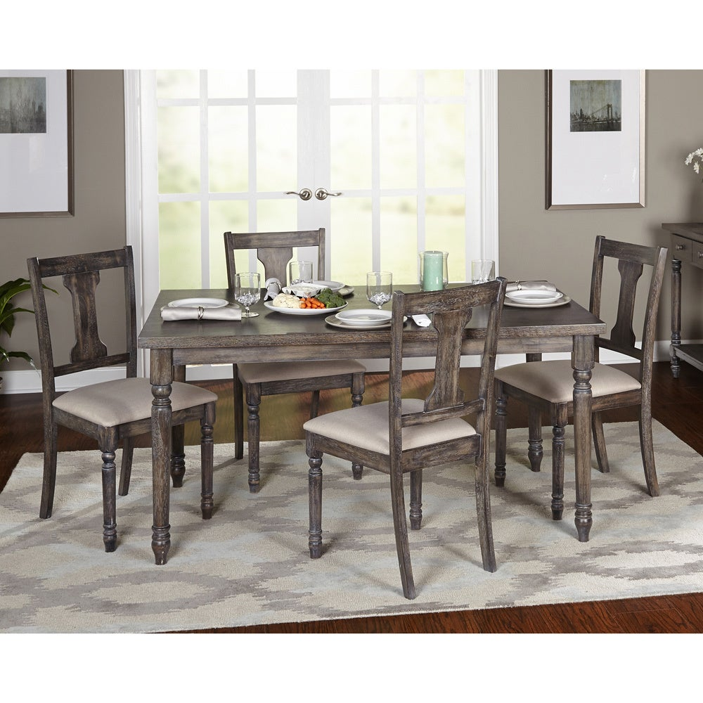 5 piece dining set kitchen table chairs dinner seats for 5 piece living room table set