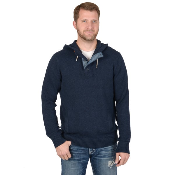 Vance Co. Men's Hooded Ribbed Casual Sweater