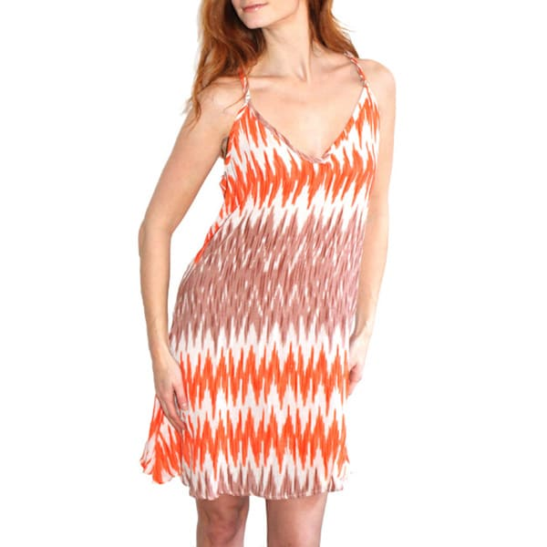 Lily Coral Zig Zag Tonya Dress