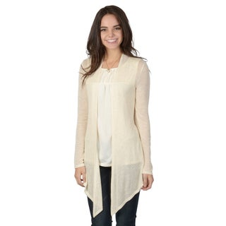 Hailey Jeans Co. Juniors Metallic Open-front Cardigan