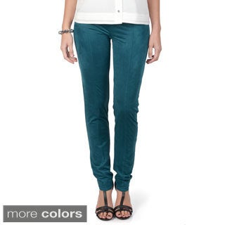 Journee Collection Women's Suede Ponte Pants
