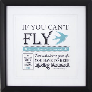 Fly Quote 16X16 Framed Print Art