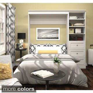 Versatile by Bestar Brown or White Full Wall Bed Kit
