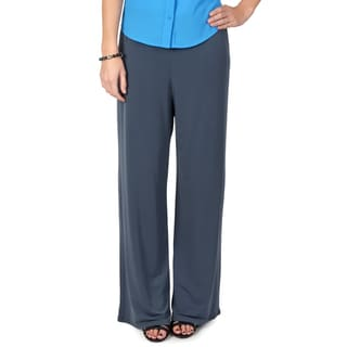 Journee Collection Women's Wide Leg Comfort Palazzo Pants