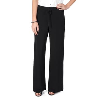Journee Collection Women's Drawstring Waist Wide Leg Trouser