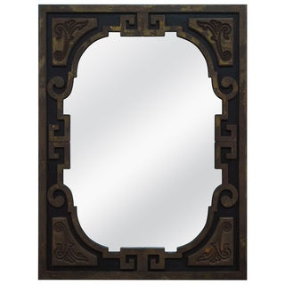 Carved Asian-inspired Framed Mirror