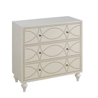 Christopher Knight Home Neutral Keene White Three Drawer Chest