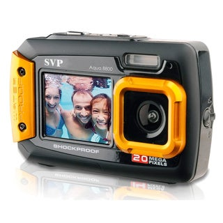 20MP Orange Waterproof Digital Camera Video Recorder