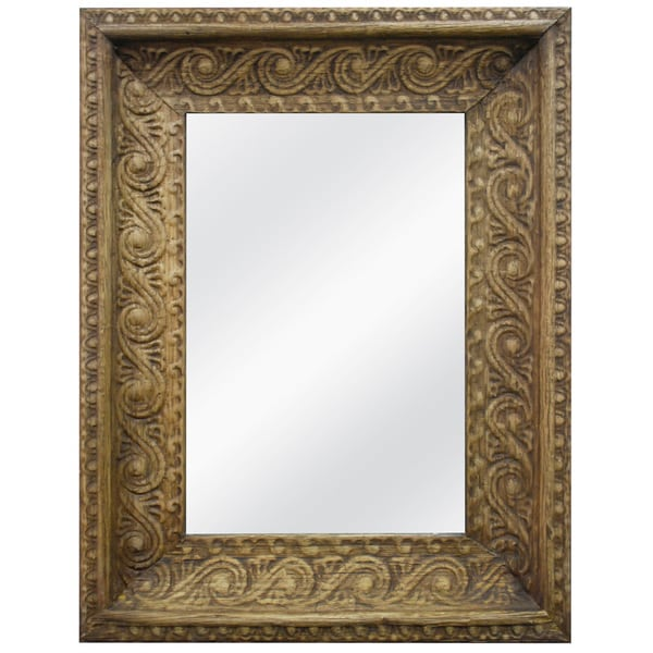 Ornate Banana Leaf Framed Mirror