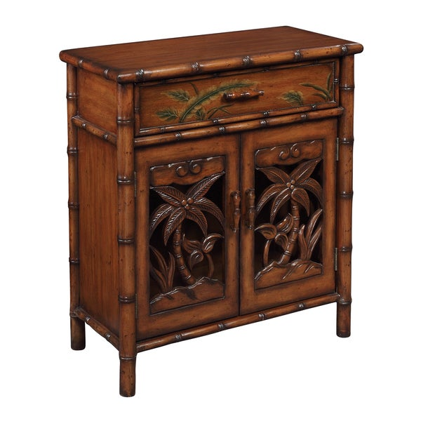 Christopher Knight Home Tupai Brown One Drawer Two Door Cabinet