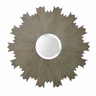 Round Gear Framed Mirror