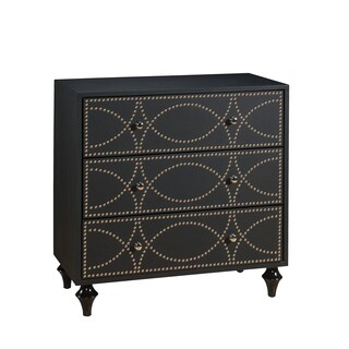 Christopher Knight Home Neutral Keeling Black Three Drawer Chest