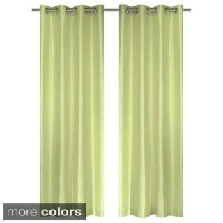 Silkana Grommet Window Curtain Panel (Set of 2)