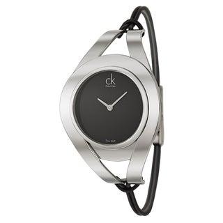 Calvin Klein Women's 'Sophistication' Stainless Steel Black Dial Swiss Quartz Watch