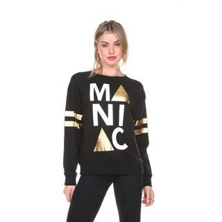 Stanzino Women's Black and Gold Long Sleeve Sweatshirt