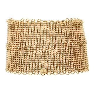 Pre-owned 18K Yellow Gold Elsa Peretti Mesh Bracelet by Tiffany & Co.
