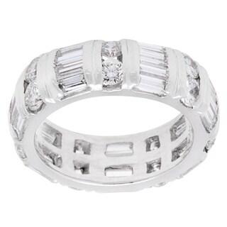 Pre-owned 18k White Gold 5 1/2ct TDW Dot-Dash Diamond Eternity Band Ring (G-H, VS1-VS2)