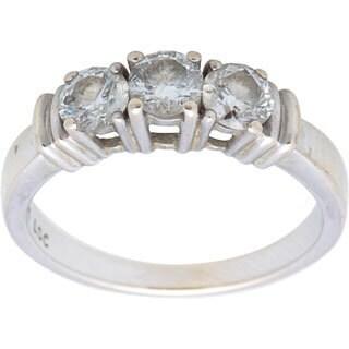 Pre-owned 14k White Gold 1ct TDW Three-stone Diamond Estate Ring (I-J, I1-I2)
