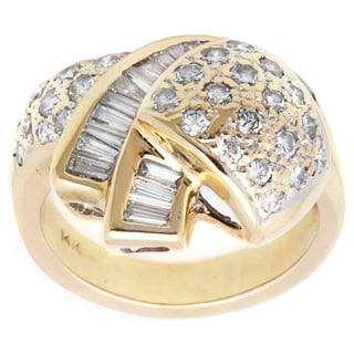 Pre-owned 14k Yellow Gold 2 1/2ct TDW Swirled Estate Ring (H-I, SI1-SI2)