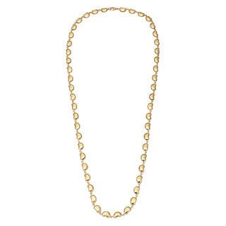 Pre-owned Tiffany & Co. 18k Yellow Gold Bean Estate Chain Necklace