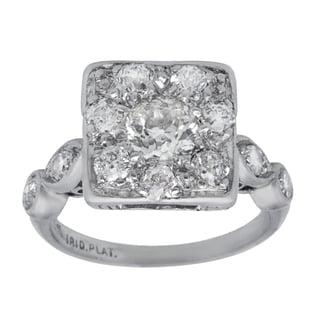 Pre-owned Platinum 1 1/4ct TDW Diamond Antique Estate Engagement Ring (G-H, SI3)