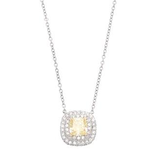 Pre-owned Tiffany & Co. Platinum 3/4ct TDW Yellow Diamond Estate Pendant (G-H, VS1-VS2)