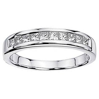 1.15 Carat 14k White Gold Princess Diamond Wedding Ring