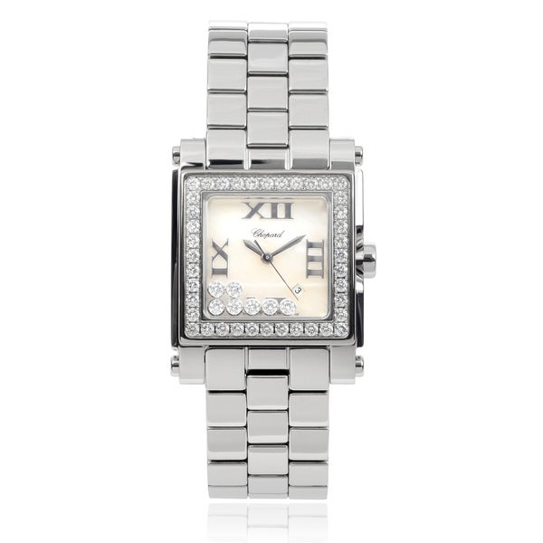 Chopard 'Happy Sport II' 278505-2001 Stainless Steel 1/2 TDW Link Watch