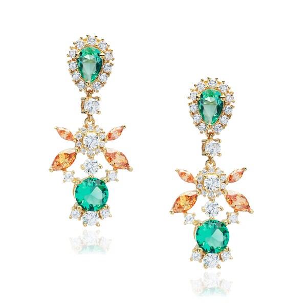 Blue Box Jewels Multi-color Cubic Zirconia Statement Earrings