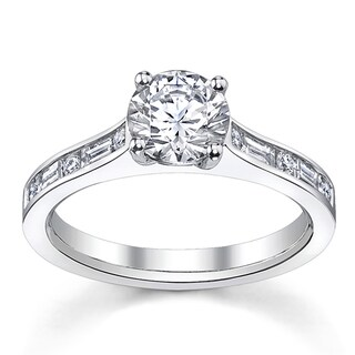 14k White Gold 3/4ct TDW Custom Diamond Engagement Ring (H-I, SI1-SI2)