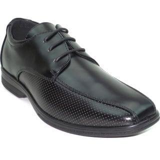"""Blue Men's """"Noah"""" Shiny Faux Leather Dress Shoe"""