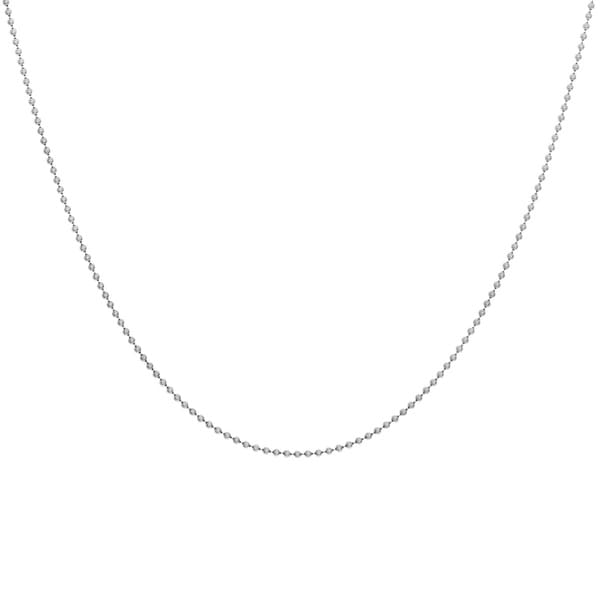 Sterling Essentials Sterling Silver Bead Chain Necklace