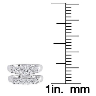14k White Gold 1 3/8ct TDW Diamond Bridal Ring Set (H-I, I1-I2)
