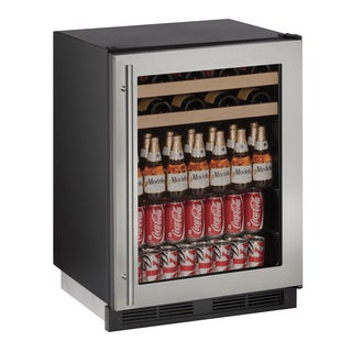 U-Line 1000 Series 1224BEV - 24 Inch Stainless Steel Beverage Center