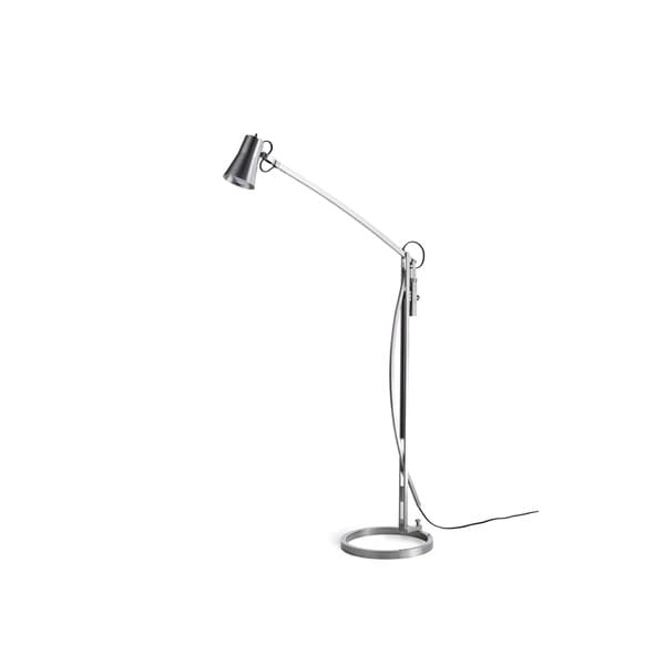 Pharmacy Single-light Nickel Floor Lamp