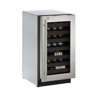 U-Line 3000 Series 3018WC 18 Inch Stainless Steel Wine Captain w/ lock