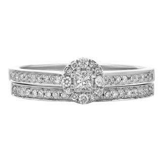 14k White Gold 2/5ct TDW Round Diamond Bridal Ring Set (H-I, I1-I2)