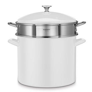 Cuisinart Chef's White Enamel on Steel 20-quart Stockpot 3-piece Set