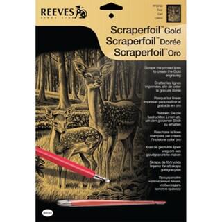 """Gold Scraperfoil Kit 8""""X10""""-Deer"""